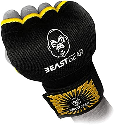 Beast Gear Guantes Boxeo Gel – Manoplas Boxeo Deportes de Combate, MMA, Muay Thai, Artes Marciales - X-Large