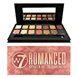 W7 | Romanced Eyeshadow Makeup Palette | Tones: Creamy Mattes & Shimmer Metallics | Colors: Warm Neutrals, Pinks, Golds, Browns | Cruelty Free and Vegan Eye Makeup For Women by W7 Cosmetics