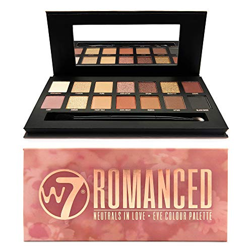 W7 | Eye Shadow Palette | Romanced Neutrals in Love, Peachy Tones | 14 Shades