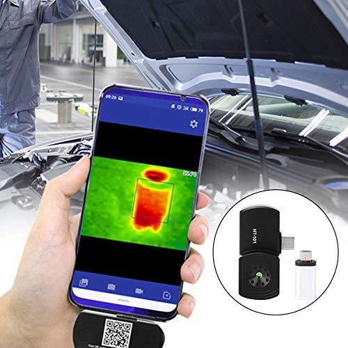 Wärmebildkamera,Thermal Imager HT-101 Mini Handy Wärmebildkamera mit hoher Genauigkeit 9Hz Infrarot Bildgebung Typ C Micro USB Thermal Imaging Camera,Wellenlängenbereich 8-14μm,220x160