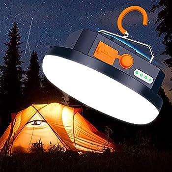Lanterne de camping à LED, lampe de tente rechargeable USB portable et 9900 mAh, 3 modes de lampe de tente avec base magnétique pour camping, randonnée, urgence