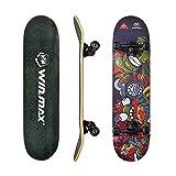 WIN.MAX Completo Skateboard para Principiantes 31'x8' 7 Capas Monopatín de Madera de Arce con rodamientos ABEC-7 Tabla de Skateboard(Jaco)