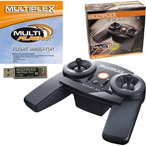 MULTIPLEX Smart SX M-Link MULTIflight Set Fernbedienung Speziell Drucktasten - Fernbedienungen (Speziell, Drucktasten, Wiederaufladbar, Schwarz)