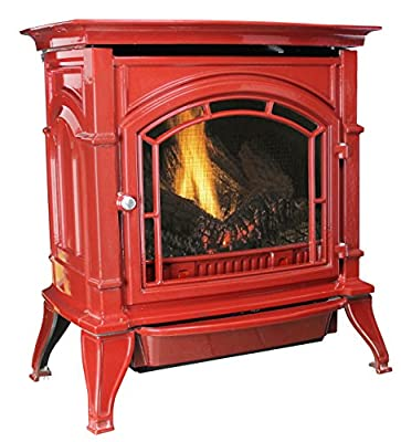 Ashley Hearth Ashley AGC500VFRN Vent-Free Red Enameled Porcelain Cast Iron Stove, 31,000 BTUs (Natural Gas)