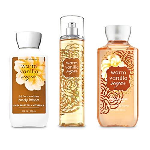 Bath & Body Works - Réchauffez vanille Sucre _ Gel douche, lotion pour le corps, parfum Mist