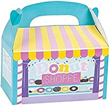 Fun Express 12 donut shop Treat party favor boxes - Great for Shopkins party theme