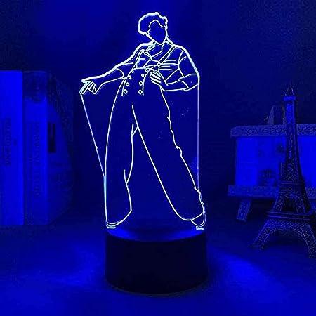 ZHFHA Tatapai Luz de Noche 3D Anime japonés Ilusión Lámparas de decoración LED Luz de Noche 3D Lámpara de Harry Styles Regalo para fanáticos Luz de Dormitorio Sensor táctil LED Lámpara de Escritorio