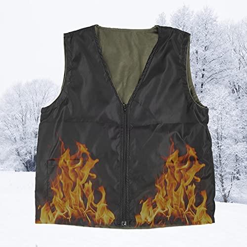 Emoshayoga Chaleco de Invierno Durable, Conveniente, Agradable a la Piel, con calefacción eléctrica, para el Cuidado de la Salud para Mayor Comodidad en Actividades al(Black, XL)