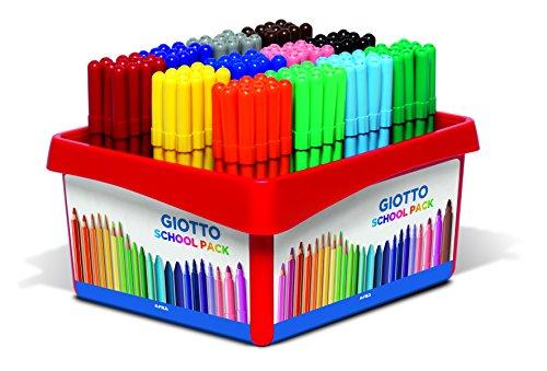 Giotto 521700 - Turbo Color 144-er Schulbox, farbig sortiert
