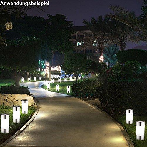 9x Außen Steh Stand Lampe Solar Steck Erdspieß Leuchte Garten Beleuchtung
