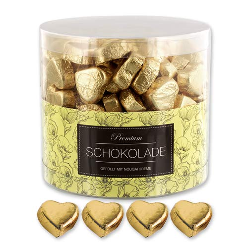 Günthart 150 goldene Schokolade Herzen Dubai, Give away Schokolade