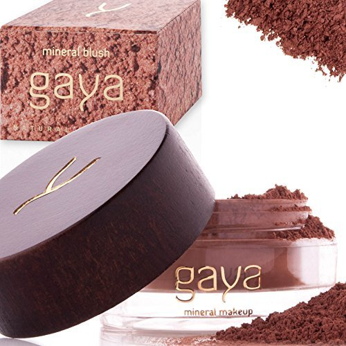 Gaya Cosmetics Mineral Blush Rouge Puder – Vegan Wangenrouge Women Make Up für langanhaltende Resultate in einer 9g Dose (BF3 Shade)