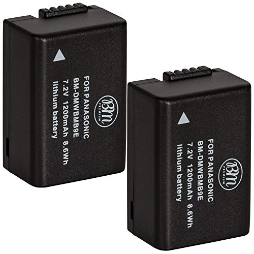2 Pack of DMW-BMB9 Batteries for Panasonic Lumix DC-FZ80, DMC-FZ40K, DMC-FZ45K, DMC-FZ47K, DMC-FZ48K, DMC-FZ60, DMC-FZ70, DMC-FZ100, DMC-FZ150 Digital Camera