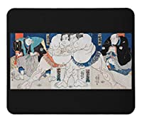 相撲の浮世絵のマウスパッド:フォトパッド( 浮世絵シリーズ ) (A)