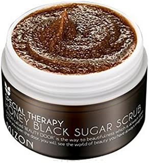 Mizon Honey Black Sugar Scrub 80g, Black Head and White Head Care with Natural Black Sugar Powder