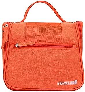 TOOGOO Orange Vanity Women Men Toilet Toiletry Kit Cosmetic Makeup Make Up Bag Case for Travel Organizer Pouch