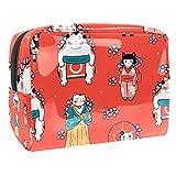 Neceseres para Maquillaje de niños Estilo japones Animales Bonitos Bolsa de Almacenamiento de Viaje Impermeable de PVC Impresa Personalizada 18.5x7.5x13cm