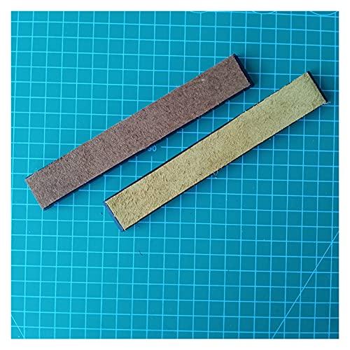 Demoyu 2.0mm Cuero de Vaca Cuero Genuino Compuesto COMPENDO COMPENDO 30G Pasta MUESTRADA RUIXIN Pro RX008 Edge Pro Sacapuntas de Cuchillos (Color : 2pcs Leather)