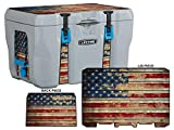 USATuff Wrap (Cooler Not Included) - Fits 28qt Lifetime Coolers - Premium Custom Vinyl Decal - Old Glory