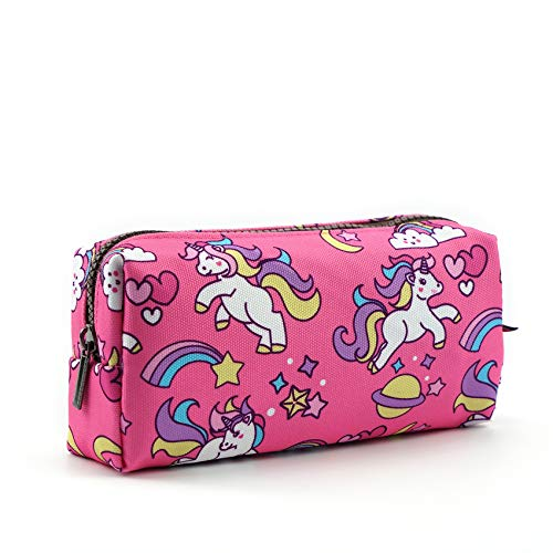 Unicorn Canvas Pencil Case Pen Bag Pouch Stationary Case Makeup Cosmetic Bag