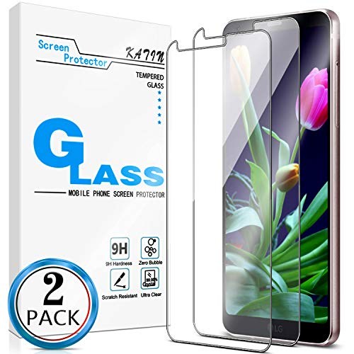 KATIN LG G6 Screen Protector - [2-Pack] (Japan Tempered Glass) LG G6 / LG G6 Plus Screen Protector Easy to Install, Bubble Free, 9H Hardness with Lifetime Replacement Warranty