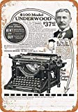 Underwood - Letreros de metal para máquinas de escribir (30,5 x 20,3 cm)