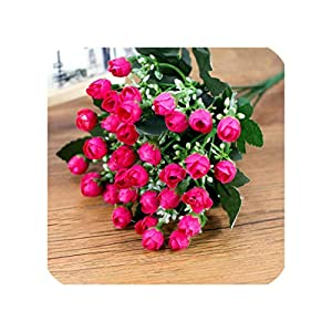 Daydreaming-shop 36 Heads Artificial Flowers Bride Bouquet Fake Peonies Bouquet Flores for Wedding Home Party Decoration-02-27Cm