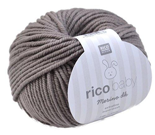 Rico Baby Merino dk 006 - kiesel Babywolle Merinowolle extrafine zum Stricken