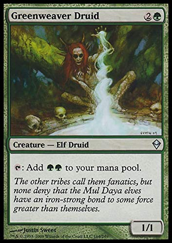 Magic The Gathering - Greenweaver Druid (164) - Zendikar