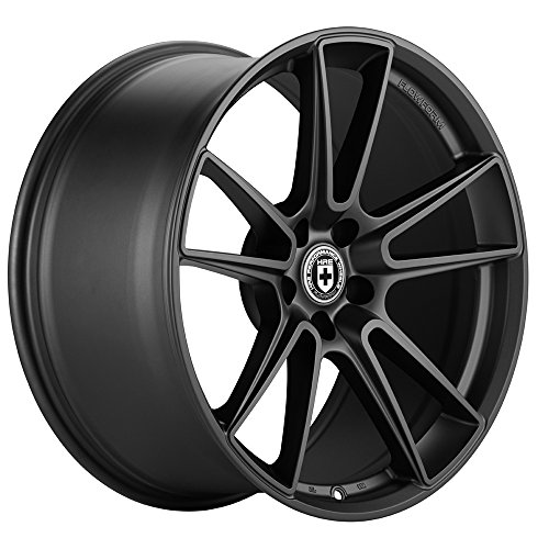 """20"""" HRE Wheels FF04 Flow Form Tarmac Black Concave Rims Only Set Of 4 Includes Vibe Motorsports License Plate Frames Fits Benz W218 Cls550 Cls63"""