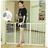 ベビーゲート 階段ドアバー子供フェンス浴室赤ちゃんキッチンペット犬フェンス分離ドア (Color : White, Size : 167-170cm)