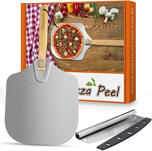 Aluminum Metal Pizza Peel Pizza Spatula Paddle for Pizza Stone with Foldable Wood Handle Easy product image