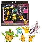Pokémon Detective Pikachu Battle Figure 6pc Multi-pack - Comes with Two 2'...