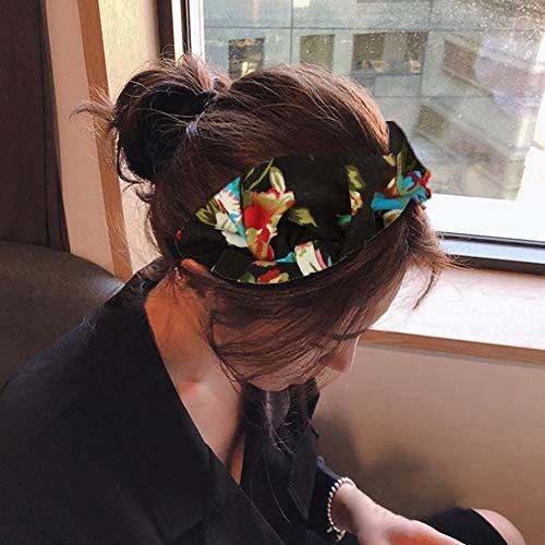 Maliyaw Bohemian Style haarband Sport Turban, European American Ladies Printed Bow Hoofdband