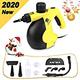 MLMLANT Handheld Pressurized Steam Cleaner with 11-Piece Accessory Set - Multi-Purpose and Multi-Surface All Natural, Chemical-Free Steam Cleaning for Home, Auto, Patio, More (11 Accessory Yellow)