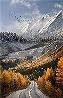 ZLFPTT 北欧キャンバス画壁面芸術現代写実主義自然風景ポスターと印紙客間風景画家居装飾 (Color : C, Size (Inch) : 50x70cm 20x28inch)