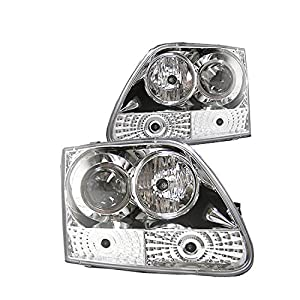 2003-2006 FORD EXPEDITION HALO PROJECTOR HEADLIGHT+HID KIT BLACK 2004 2005 TRUCK