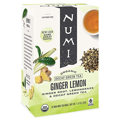 Numi Organic Tea Ginger Lemon, 16 Count Box of Tea Bags (Pack of 3)