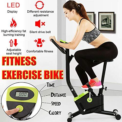 DMZH Bicicleta Estática Pantalla LED Cardio Gimnasio En Casa Fitness Entrenador De Ciclismo De Spinning Bicicleta De Ejercicio Bicicleta De Spinning Casera