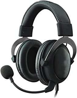Ps4 headphones Surround Sound Memory Foam Ear Pads Multi-platform For PC, PS4, PS4 PRO, Xbox One, Xbox One S Gaming Gaming Headphones xbox headsets (Color : Silver)