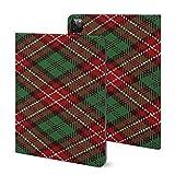 Étui pour iPad Pro 2020 (11 pouces), motif écossais rouge, blanc, noir et vert avec support...