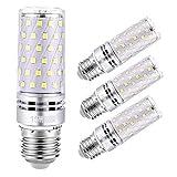 Sagel E27LED Ampoule de Maïs 15W, 120W Équivalent Ampoules à Incandescence, 6000K Blanc Froid Candélabres E27 Ampoules, Non Dimmable, 1500LM, Edison Vis Ampoules de Maïs, 4-Pack