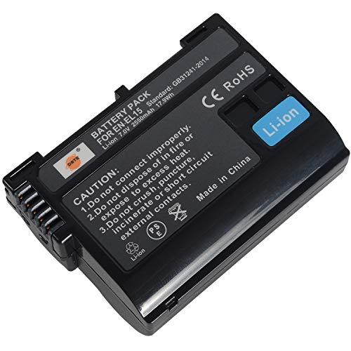 DSTE - Batteria di ricambio compatibile con EN-EL15 e Nikon 1 V1, D7200, D7100, D750, D600, D7000, D800E,D810A Digital SLR, Battery Grip MB-D11, MB-D12, MB-D15, MB-D17