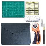 Taglierina rotante da 45 mm per cucire, rotonda, rotante manuale, in tessuto, per guida di taglio, macchina da cucire