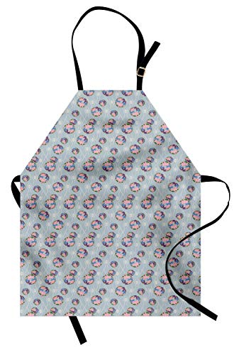 ABAKUHAUS Japans Keukenschort, Far Eastern Kimono, Unisex Keukenschort met Verstelbare Nekband voor Koken en Tuinieren, Veelkleurig