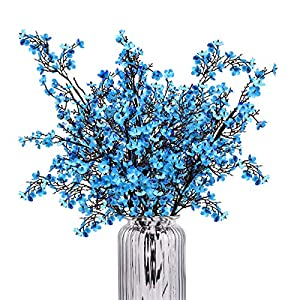 """Baby Breath Gypsophila Artificial Flowers, Babies Breath Flowers Bush Artificial Gypsophila Silk Silica Real Touch Blooms for Wedding Bridal Party Home Floral Arrangement Decor, 4 Bundles, 19.7"""""""