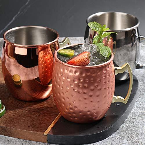 Maultier Moskau Maultierbecher 304 Edelstahl Verkupfert Hammer Point Cup Lichtkörper Weinglas Cocktailglas
