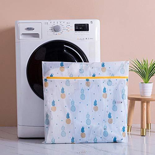 Netto zak ananas Print polyester mesh bag rits wassen in een wasmachine voor het wassen van ondergoed sok sluiting tas machine kleding,XL 60-60cm,een afmeting