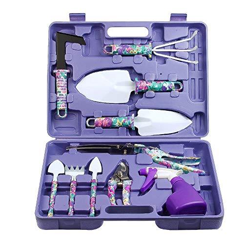 MNNE Tuingereedschap Kit Potted Care Tools 10 Ergonomische Weeders Trimmers Sprayers En andere Bloemenkweek Gereedschap Met Koffer