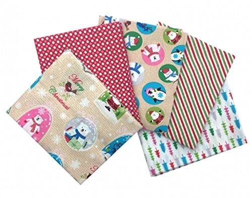 Craft Cotton Stoffpaket Textured Blenders Darks Stoff 5-Einheiten Bunt 45 x 55 x 0,5 cm Baumwolle